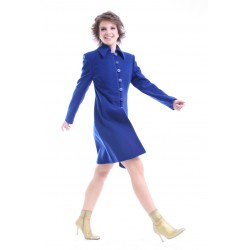Lady's coat 741, blue,...