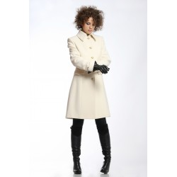 Elegant coat 717, in white,...