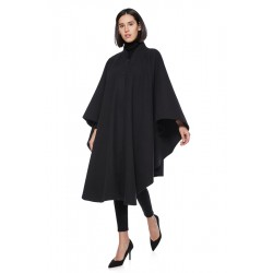 Wool blend black cape 771,...
