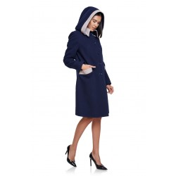 Winter coat in navy blue...